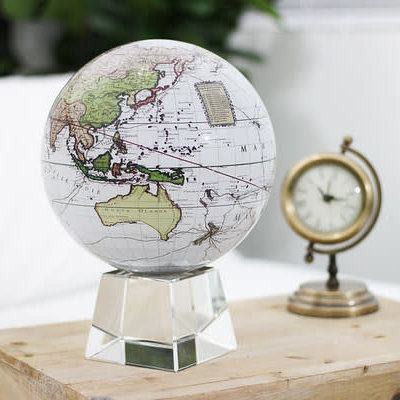MOVA  International Antique Terrestrial White MOVA Globe