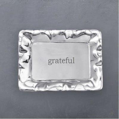 "Beatriz Ball GIFTABLES Vento Rectangular Engraved Tray (""grateful"") - SMALL"