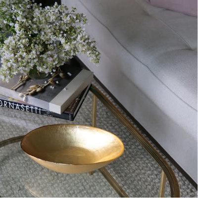 Beatriz Ball NEW ORLEANS Glass Gold Foil Medium Oval Bowl - MEDIUM