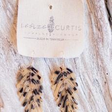 Leslie Curtis Jewelry Designs Vivian - Tortoise Shell Feather Earrings, Brown