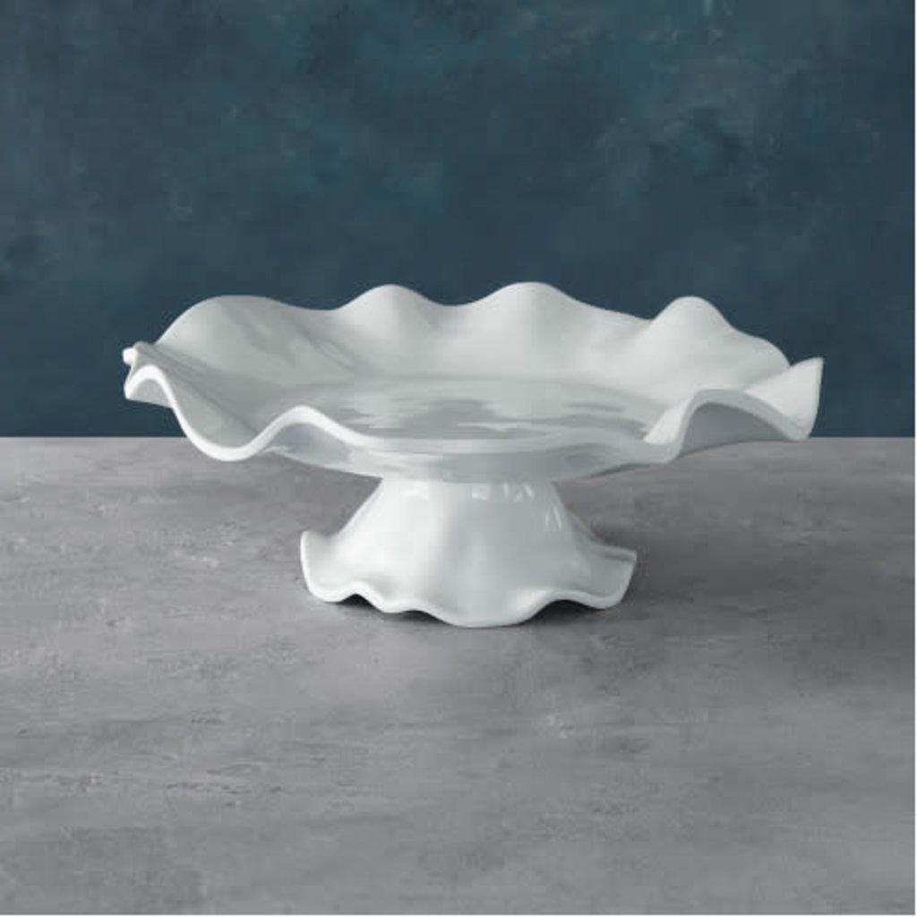 Beatriz Ball VIDA Havana Pedestal Cake Plate White - LARGE