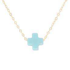 "enewton 16"" Gold-Signature Cross Turquoise"