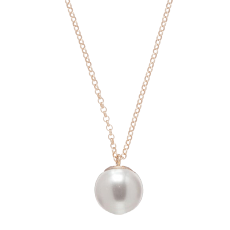 "enewton 16"" Necklace Gold - Clarity Pearl Charm"