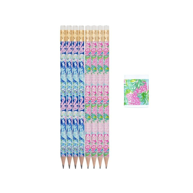 Lilly Pulitzer Lilly Pulitzer Pencil & Eraser Set