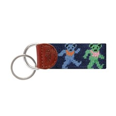 Smathers & Branson Dancing Bears Needlepoint Key Fob