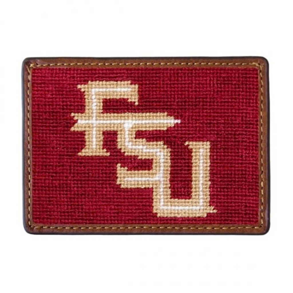Smathers & Branson Florida State Needlepoint Card Wallet