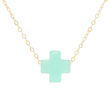 "enewton 16"" Gold Necklace-Signature Cross Mint"