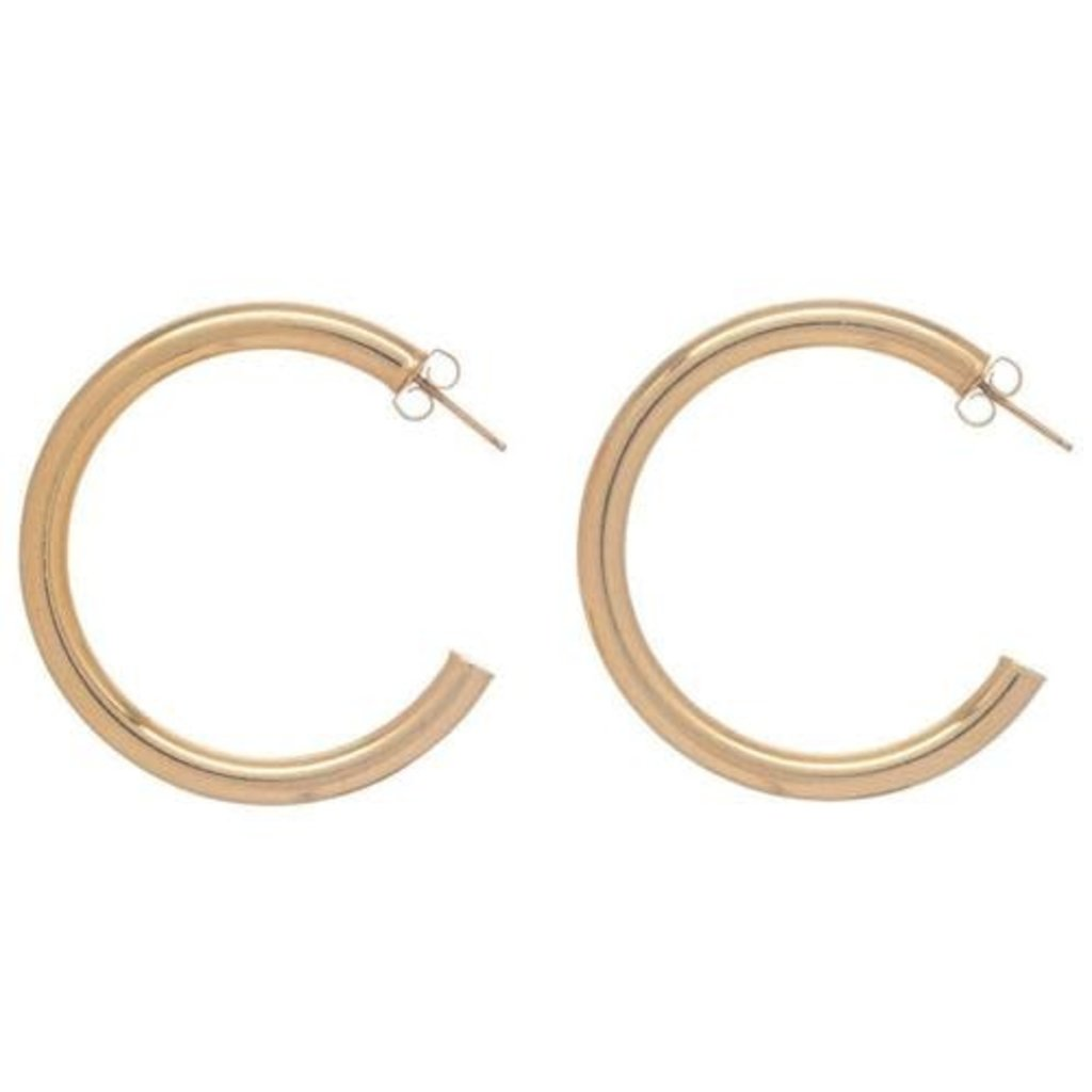 "enewton Round Gold 1.5"" Post Hoop - 3mm - Smooth"