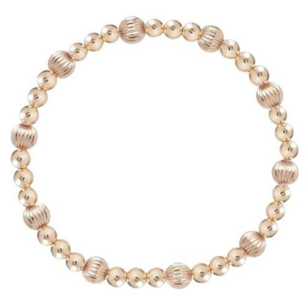 enewton Dignity Sincerity Pattern 4mm Bead Bracelet - Gold