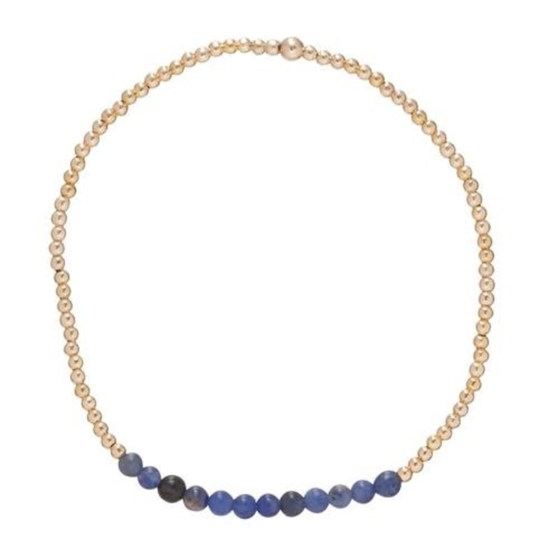 enewton Gold Bliss 2mm bead bracelet Sodalite