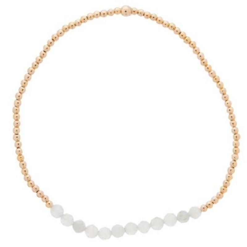 enewton Gold Bliss 2mm Bead Bracelet - Aquamarine