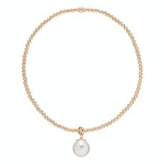 enewton Classic Gold 2mm Bead Bracelet Clarity Pearl
