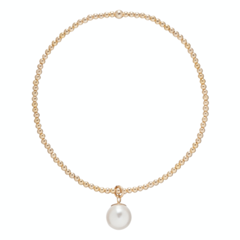 enewton Classic Gold 2mm Bead Bracelet Clarity Pearl