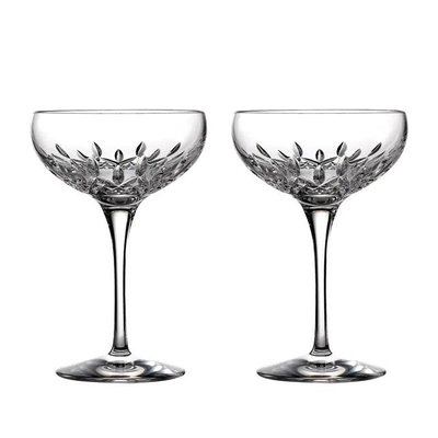 Waterford Lismore Essence Champagne Saucer, Pair