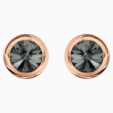 Swarovski ROUND CUFFLINKS, GRAY, ROSE-GOLD TONE PLATED