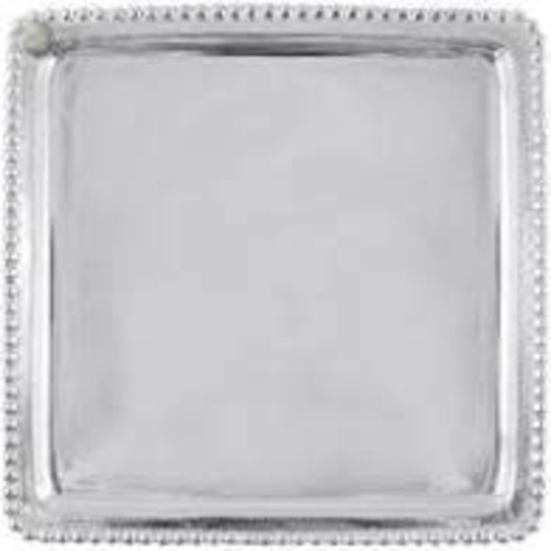 Mariposa Charms Beaded Square Plate