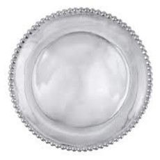 Mariposa Pearled Small Round Platter
