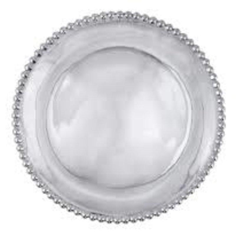 Mariposa Pearled Small Round Platter