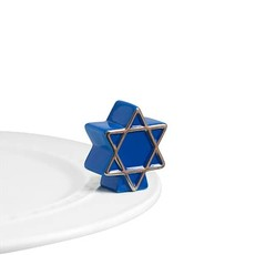nora fleming star of david mini(blue star)