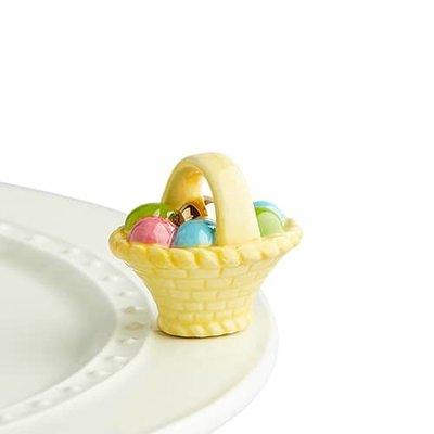 nora fleming a tisket, a tasket  mini (basket w/eggs)