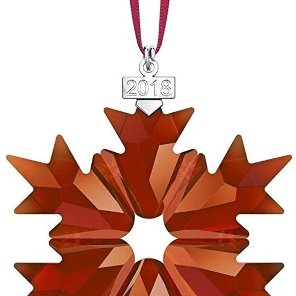 Swarovski 2018 RED SWAROVSKI CRYSTAL HOLIDAY ORNAMENT, ANNUAL EDITION