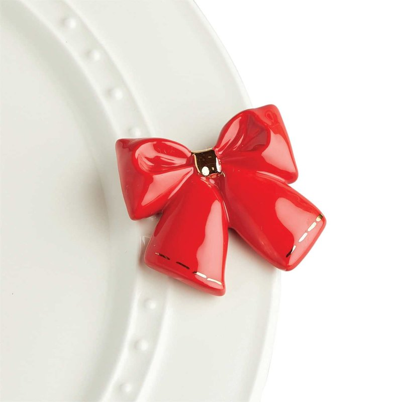 nora fleming wrap it up! mini (red bow)