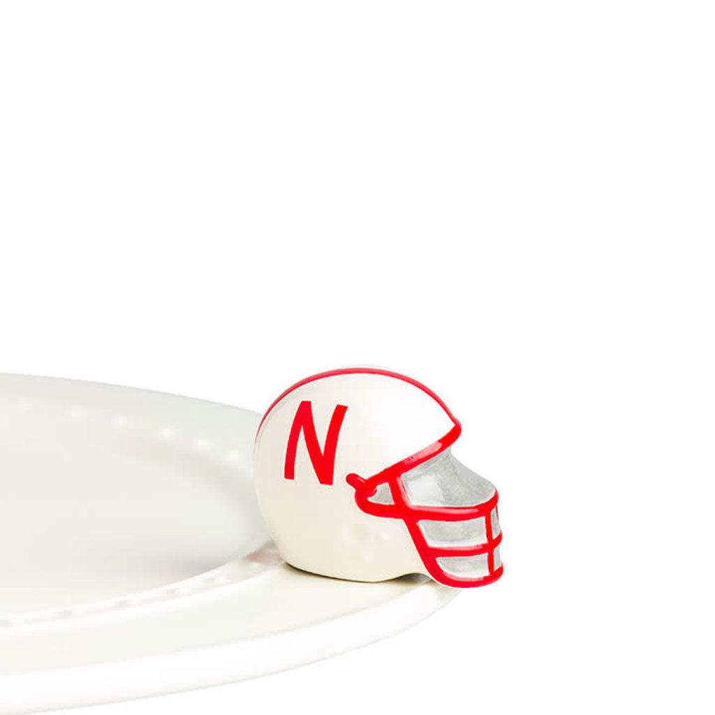 nora fleming university of  nebraska helmet mini RETIRED