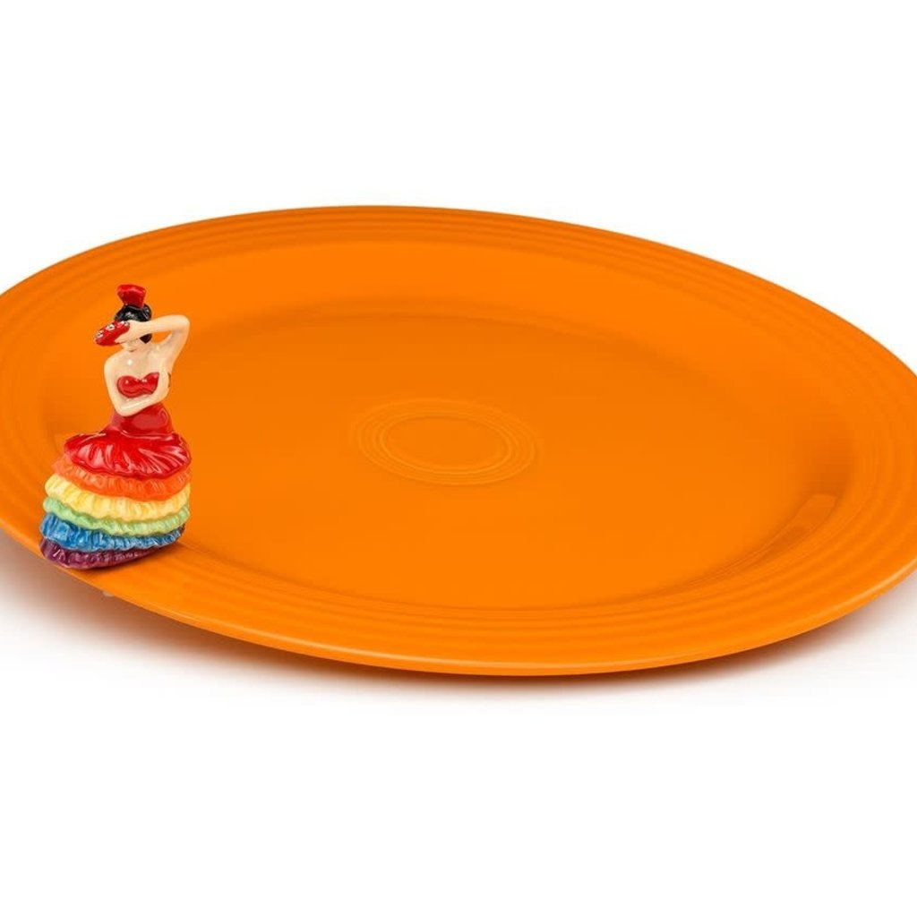 nora fleming Fiesta Round Platter and Dancing Lady Mini