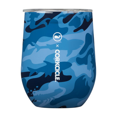 Corkcicle 12 Ounce Vineyard Vines Blue Camo Wine Cup