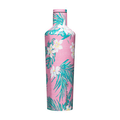 Corkcicle 25 Ounce Vineyard Vines Pink Tropical Flowers Canteen