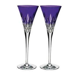 Waterford Lismore POPs Purple Toasting Flute, Pair