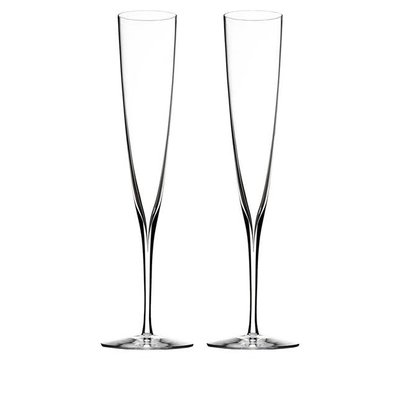 Waterford Elegance Champagne Trumpet Flute, Pair