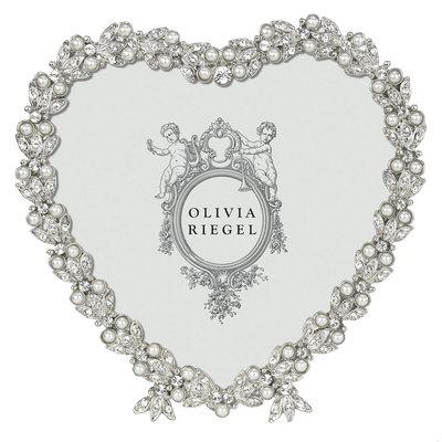 "Olivia Riegel SILVER CONTESSA HEART 3.5"" FRAME"