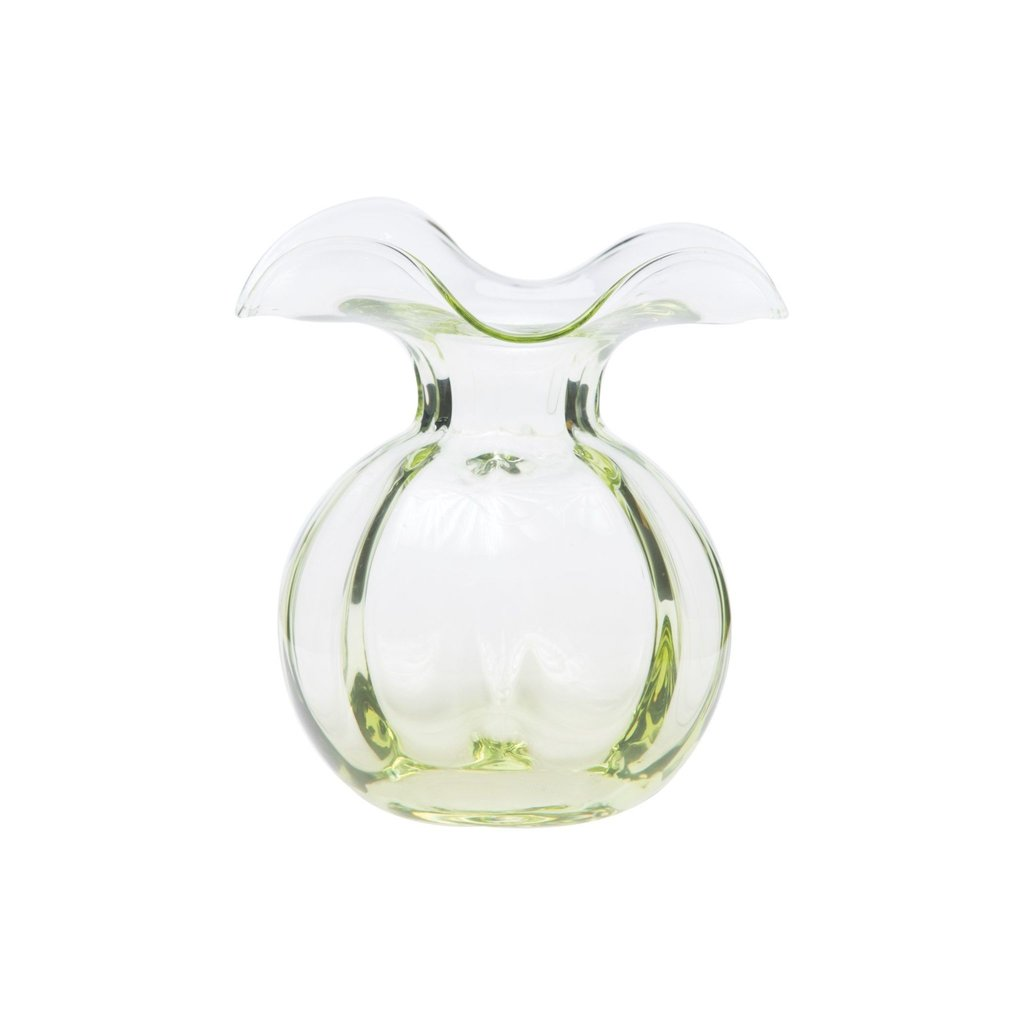 Vietri HIBISCUS GLASS GREEN BUD VASE