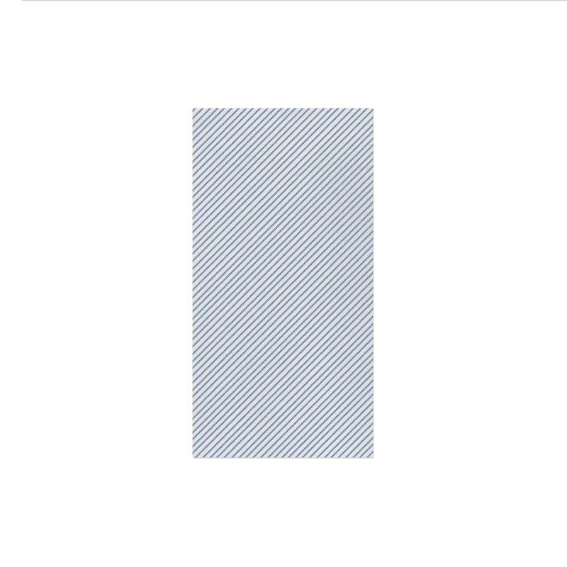 Vietri PAPERSOFT NAPKINS SEERSUCKER STRIPE BLUE GUEST TOWELS, Pkg of 20