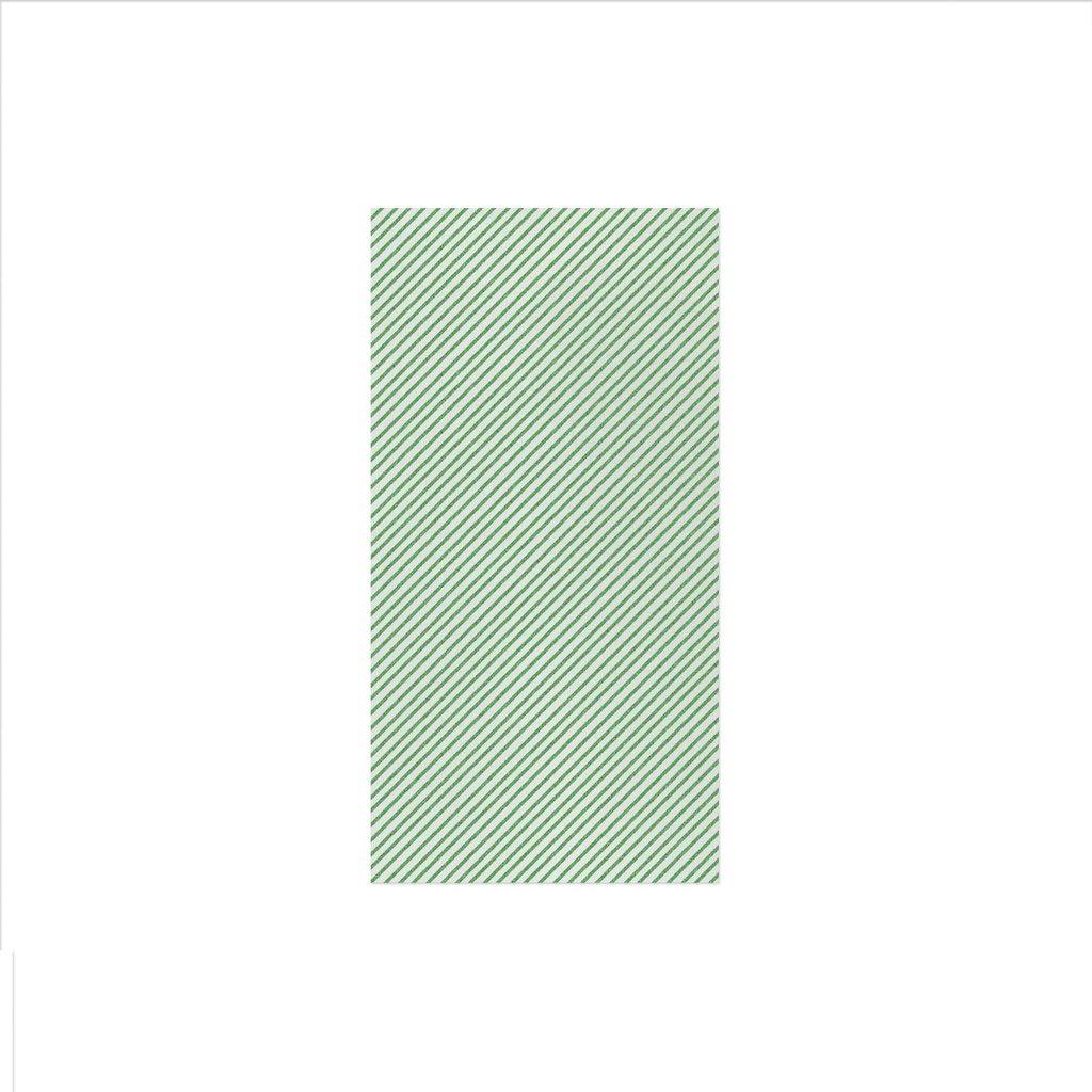 Vietri PAPERSOFT NAPKINS SEERSUCKER STRIPE GREEN GUEST TOWELS