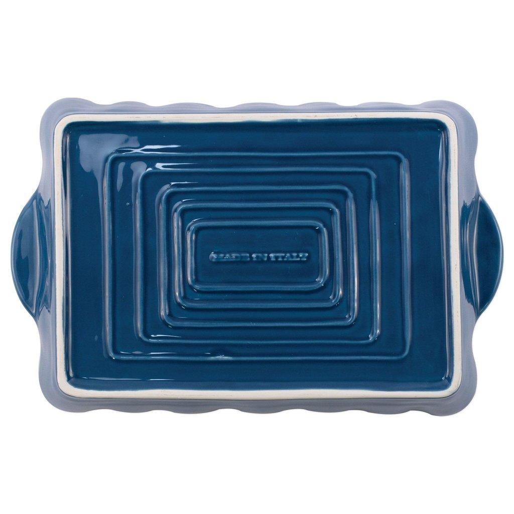 Vietri ITALIAN BAKERS BLUE LARGE RECTANGULAR BAKER