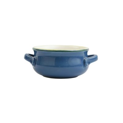 Vietri ITALIAN BAKERS SMALL HANDLED BLUE ROUND BAKER ITB-W2955