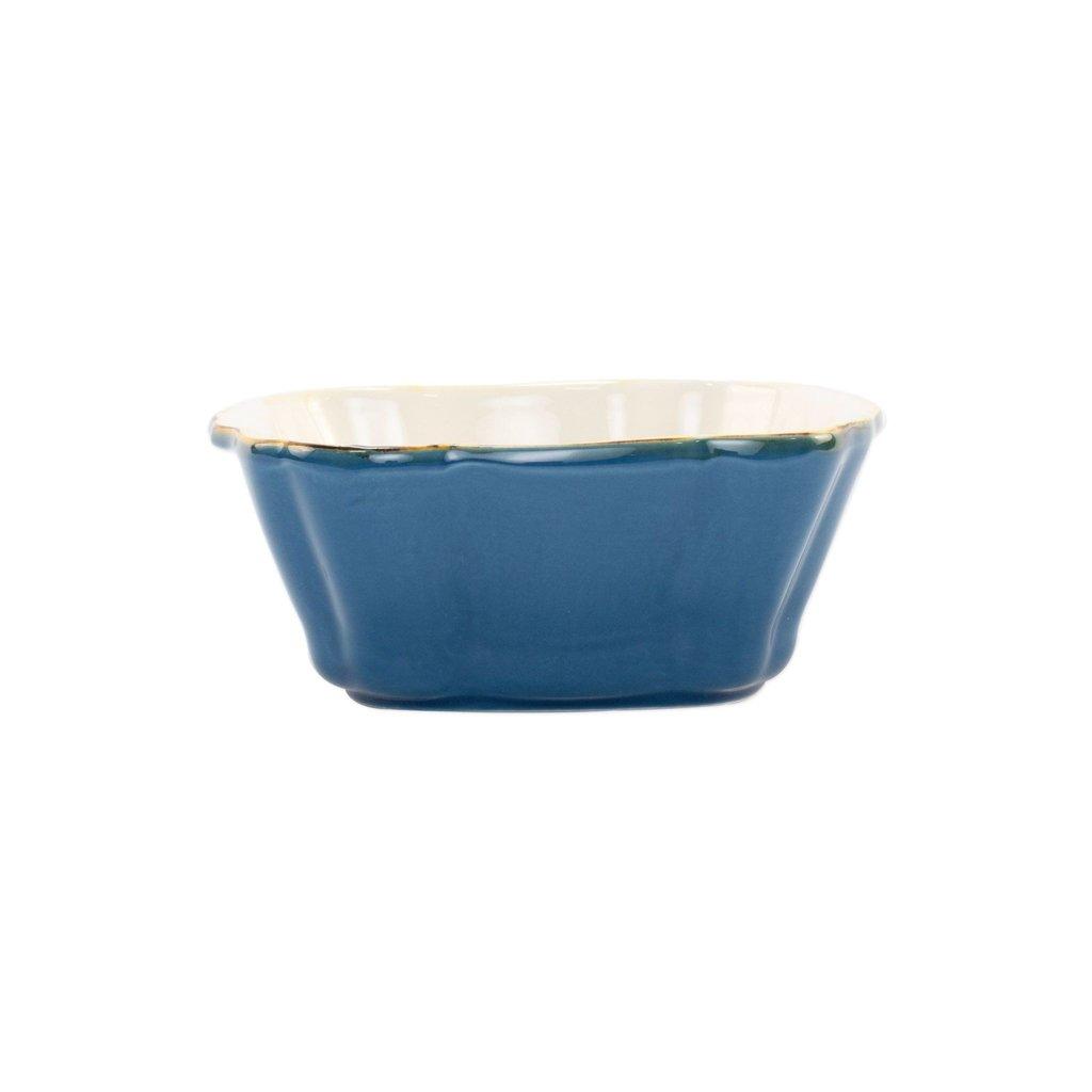 Vietri ITALIAN BAKERS BLUE SMALL SQUARE BAKER