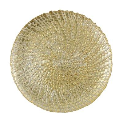 Vietri RUFOLO GLASS GOLD CROCODILE SERVICE PLATE/CHARGER