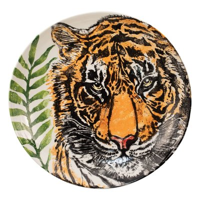 Vietri INTO THE JUNGLE TIGER SHALLOW BOWL