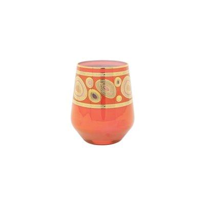 Vietri REGALIA ORANGE STEMLESS WINE GLASS