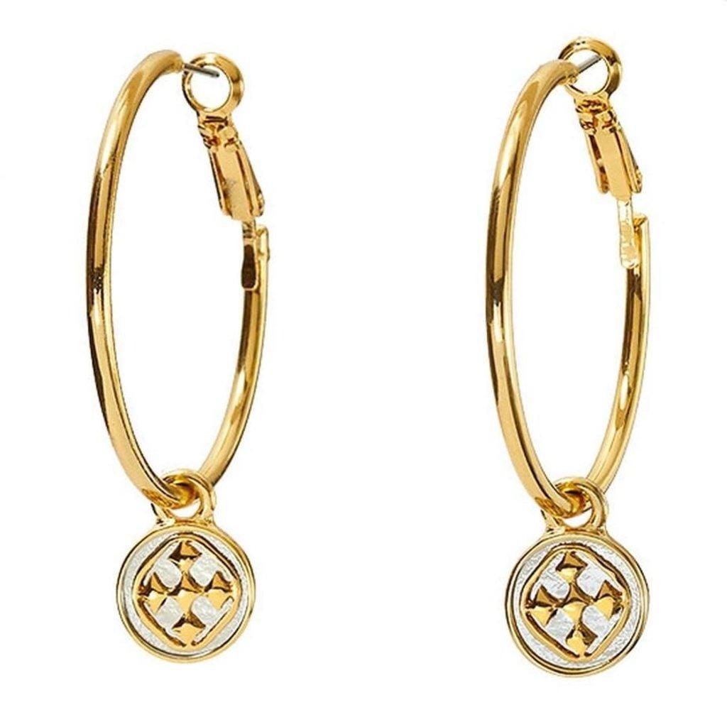 Gracewear Linked Medallion Hoop Earrings