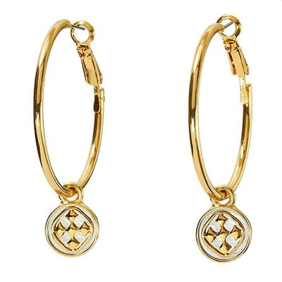 Gracewear Linked Medallion Hoop Earrings