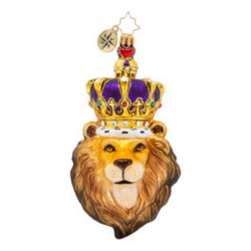 Radko Ornament - Roaring Royalty