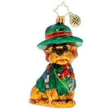 Radko Radko Ornament - Scout's Honor Puppy