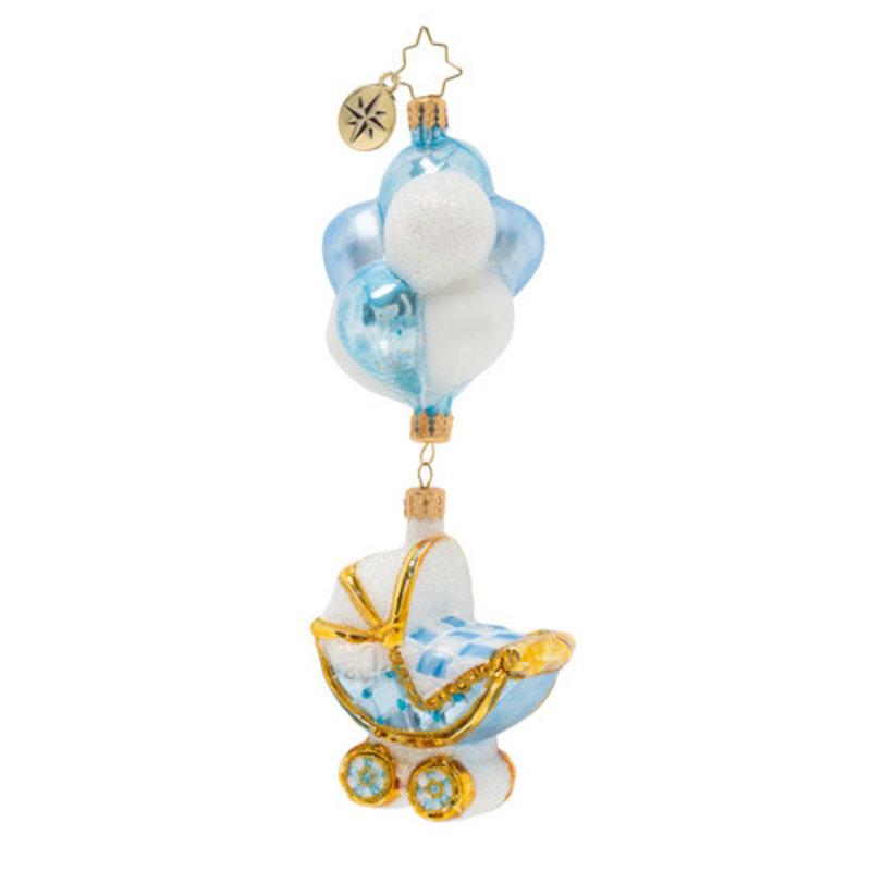 Radko Radko Ornament - Baby Boy Buggy & Balloons