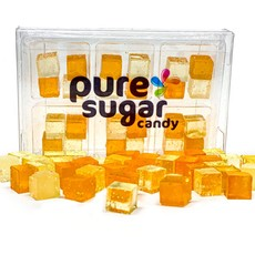 Pure Sugar Candy Mimosa Candy Cubes, 24 in 6 pack Tray