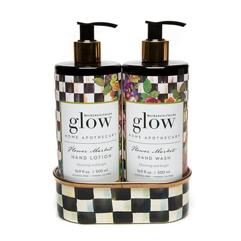 Mackenzie-Childs Flower Market Soap & Lotion Caddy Set