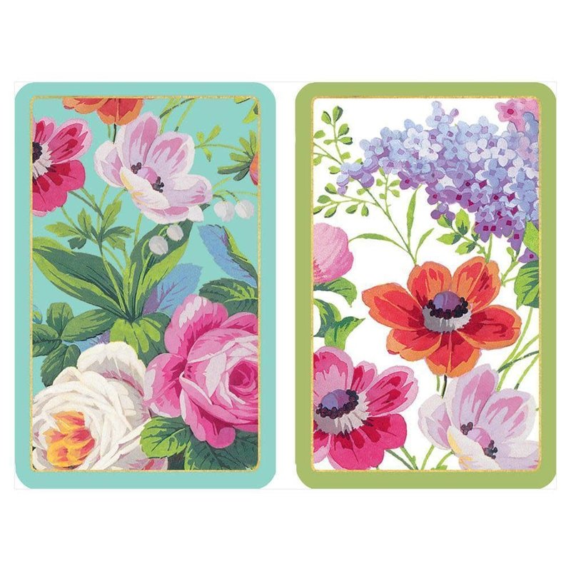 Caspari Playing Cards Jumbo Edwardian Garden